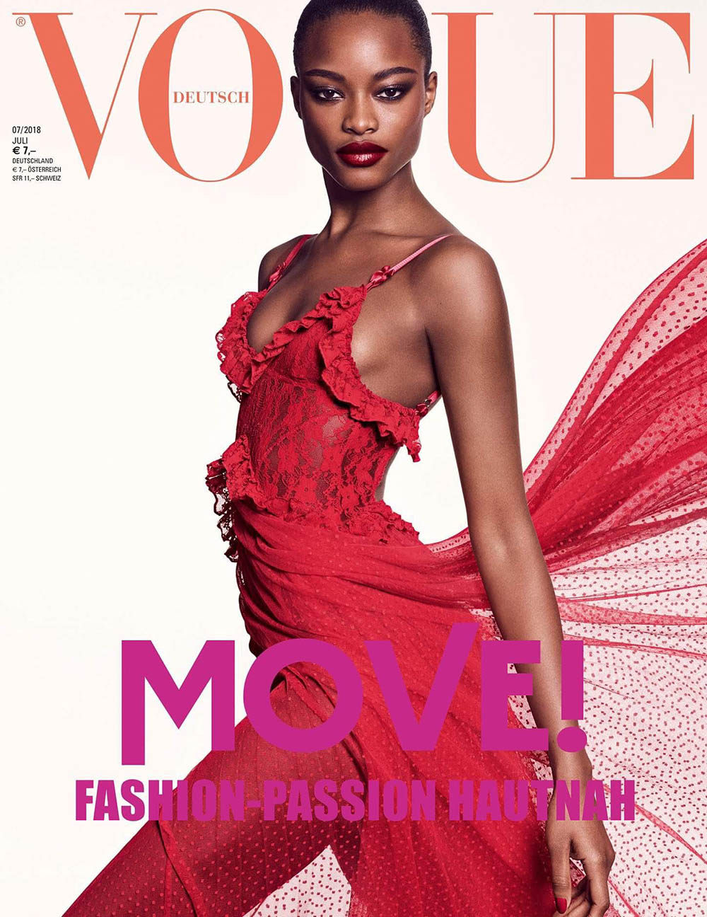 Fran Summers, Mayowa Nicholas and Vittoria Ceretti cover Vogue Germany July 2018 by Luigi & Iango