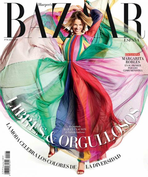 Hailey Clauson covers Harper's Bazaar Spain July 2018 by Paul Empson