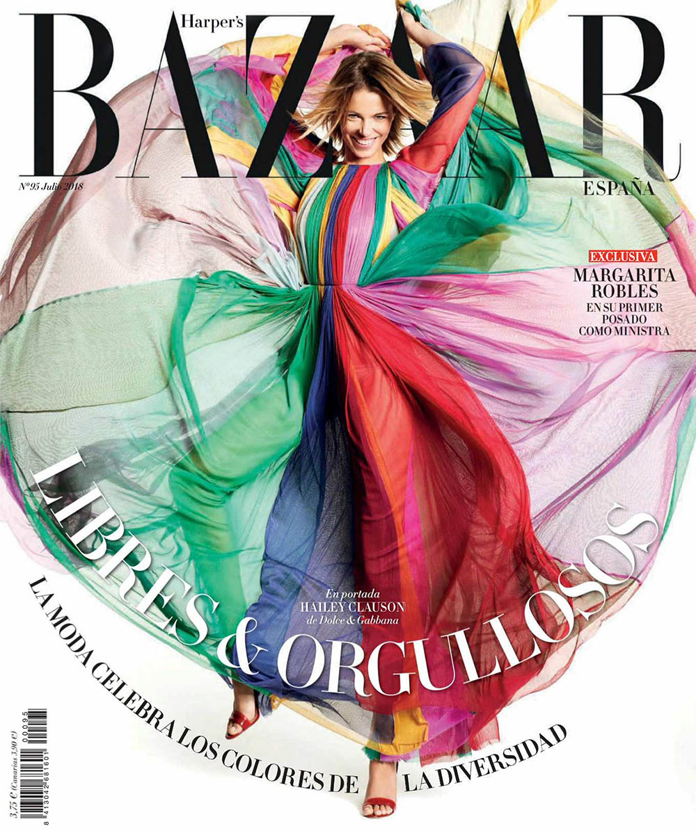 Hailey Clauson covers Harper's Bazaar Spain July 2018 by Paul Empson