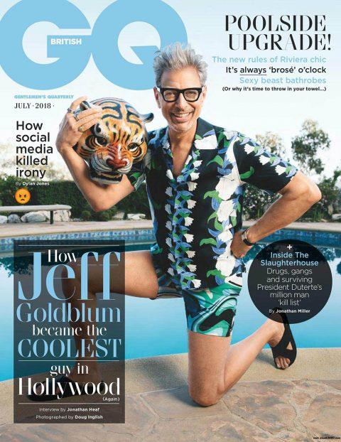 Jeff Goldblum covers British GQ July 2018 by Doug Inglish
