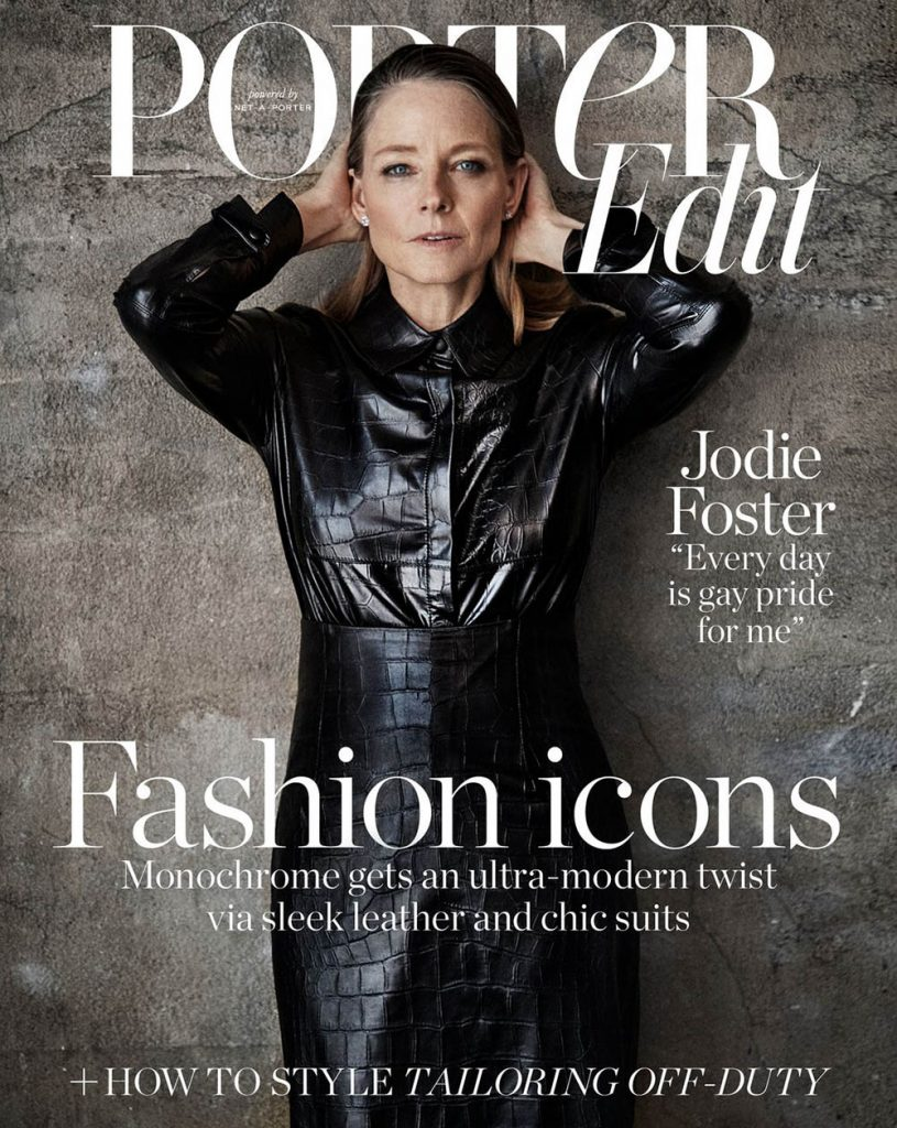 Jodie Foster covers Porter Edit July 6th, 2018 by Victor Demarchelier