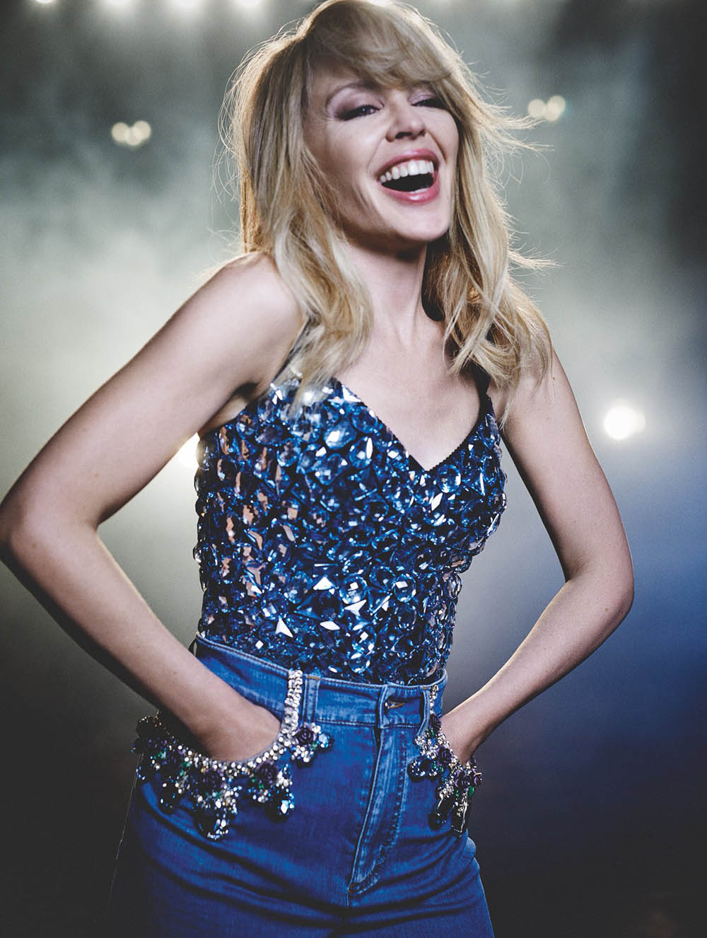 Kylie Minogue covers Vogue Spain July 2018 by Boo George
