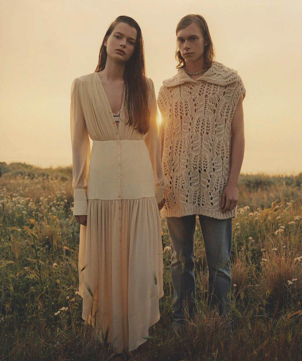 Louise Robert and Kit Warrington by Ben Weller for Vogue Australia July 2018