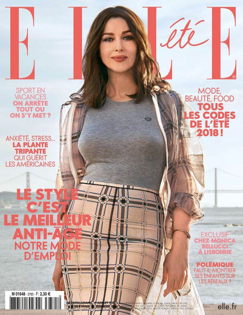 Monica Bellucci covers Elle France July 6th, 2018 by Myro Wulff