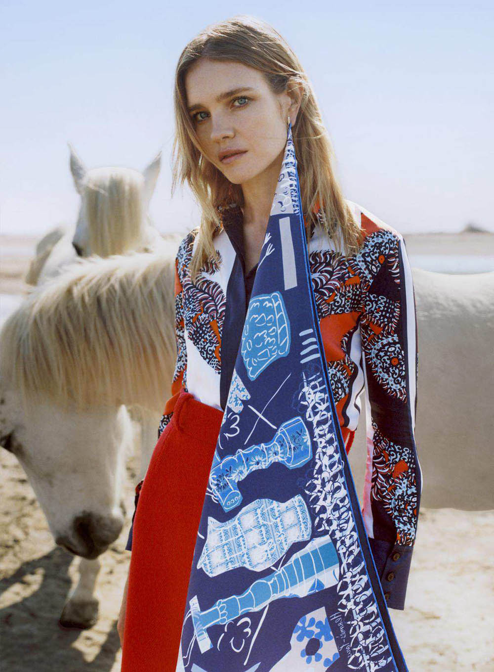Natalia Vodianova by Zoe Ghertner for Vogue US July 2018