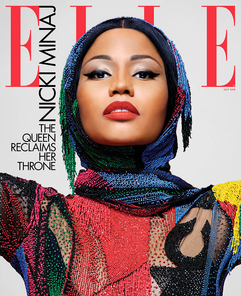Nicki Minaj covers Elle US July 2018 by Karl Lagerfeld