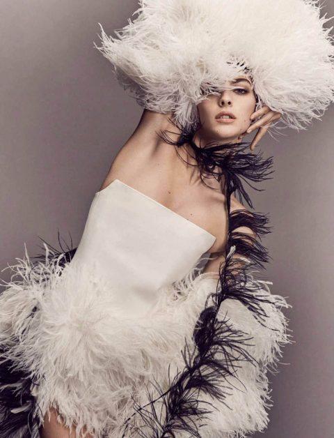 Vittoria Ceretti and Lars Eidinger by Luigi & Iango for Vogue Germany July 2018