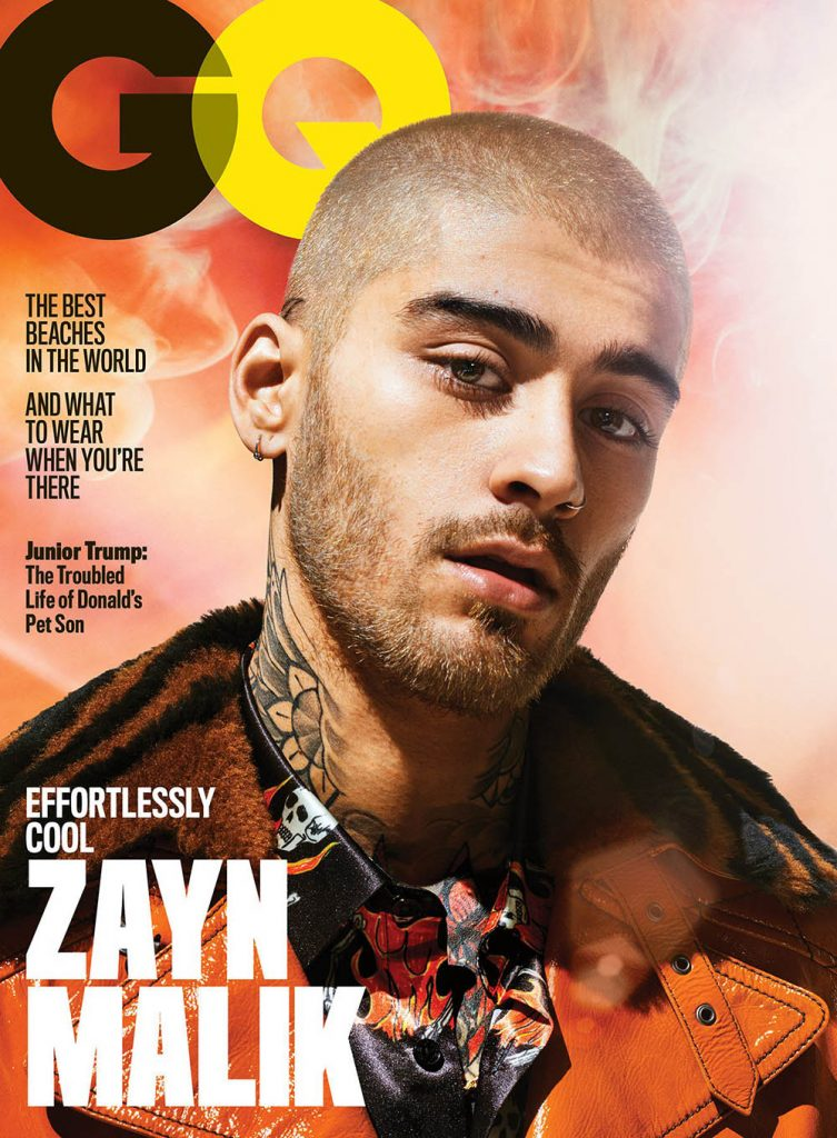 Zayn Malik covers GQ USA July 2018 by Sebastian Mader