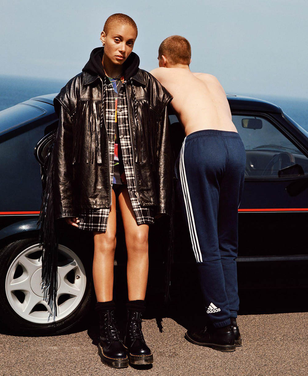 Adwoa Aboah and Oisin Murphy by Alasdair McLellan for Vogue Paris August 2018