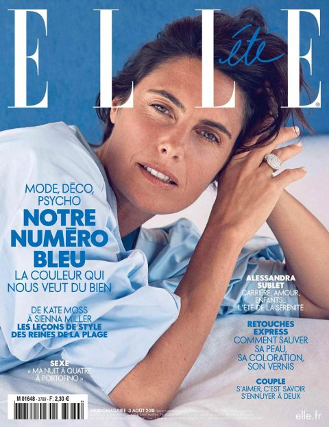 Alessandra Sublet covers Elle France August 3rd, 2018 by Eric Guillemain