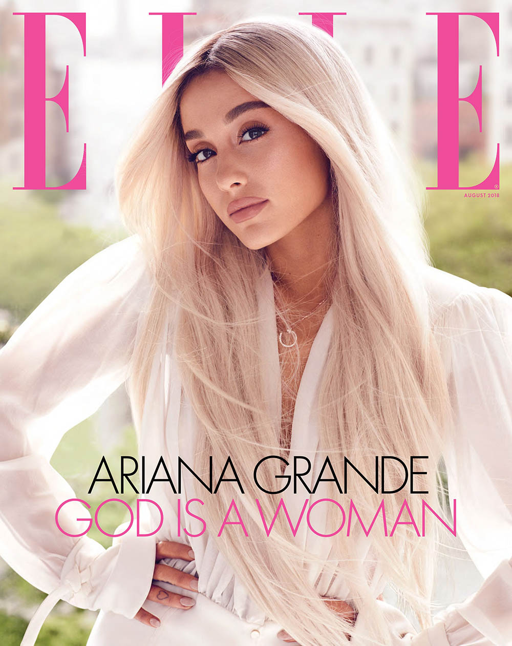 Ariana Grande covers Elle US August 2018 by Alexi Lubomirski