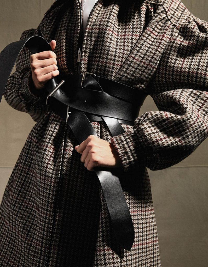 ''Belted Bold Leathers Shape Up Fall Coats'' by Hanna Tveite for WSJ. Magazine August 2018