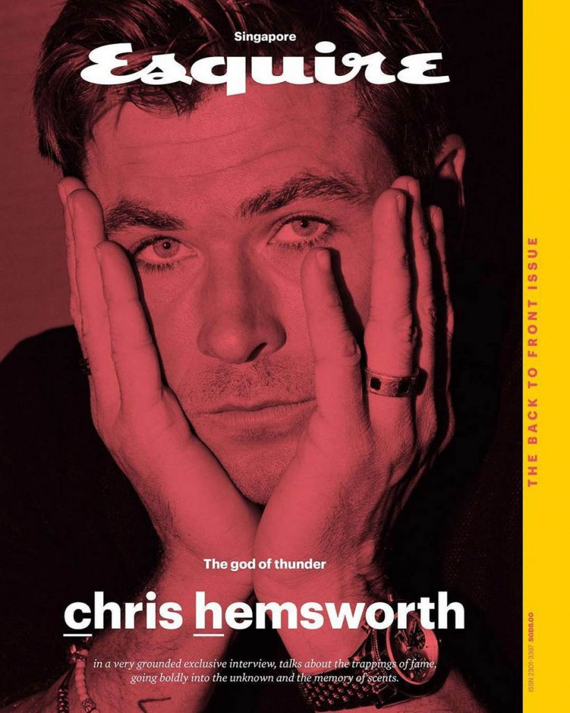 Chris Hemsworth covers Esquire Singapore August 2018 by Zhong Lin