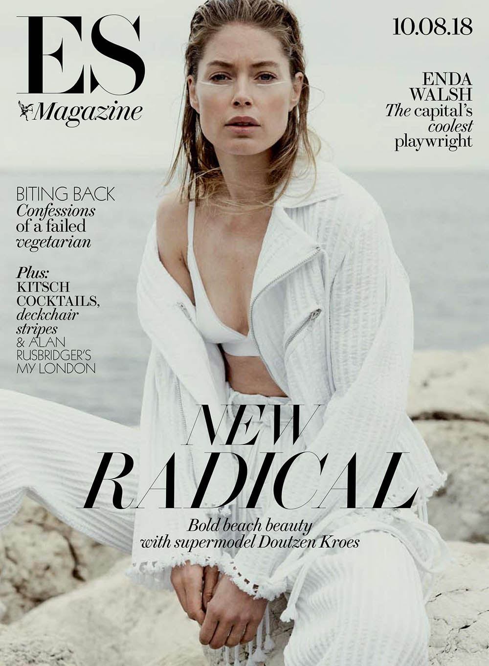 Doutzen Kroes covers ES Magazine August 10th, 2018 by Rory Payne