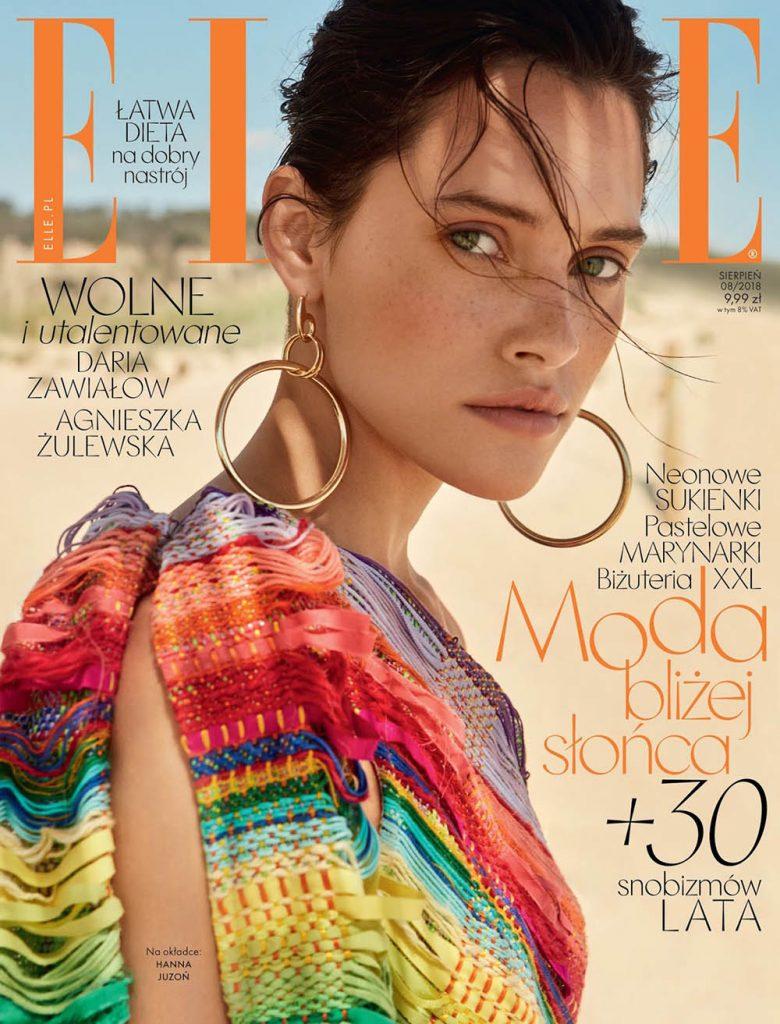 Hanna Juzoń covers Elle Poland August 2018 by Gosia Turczyńska