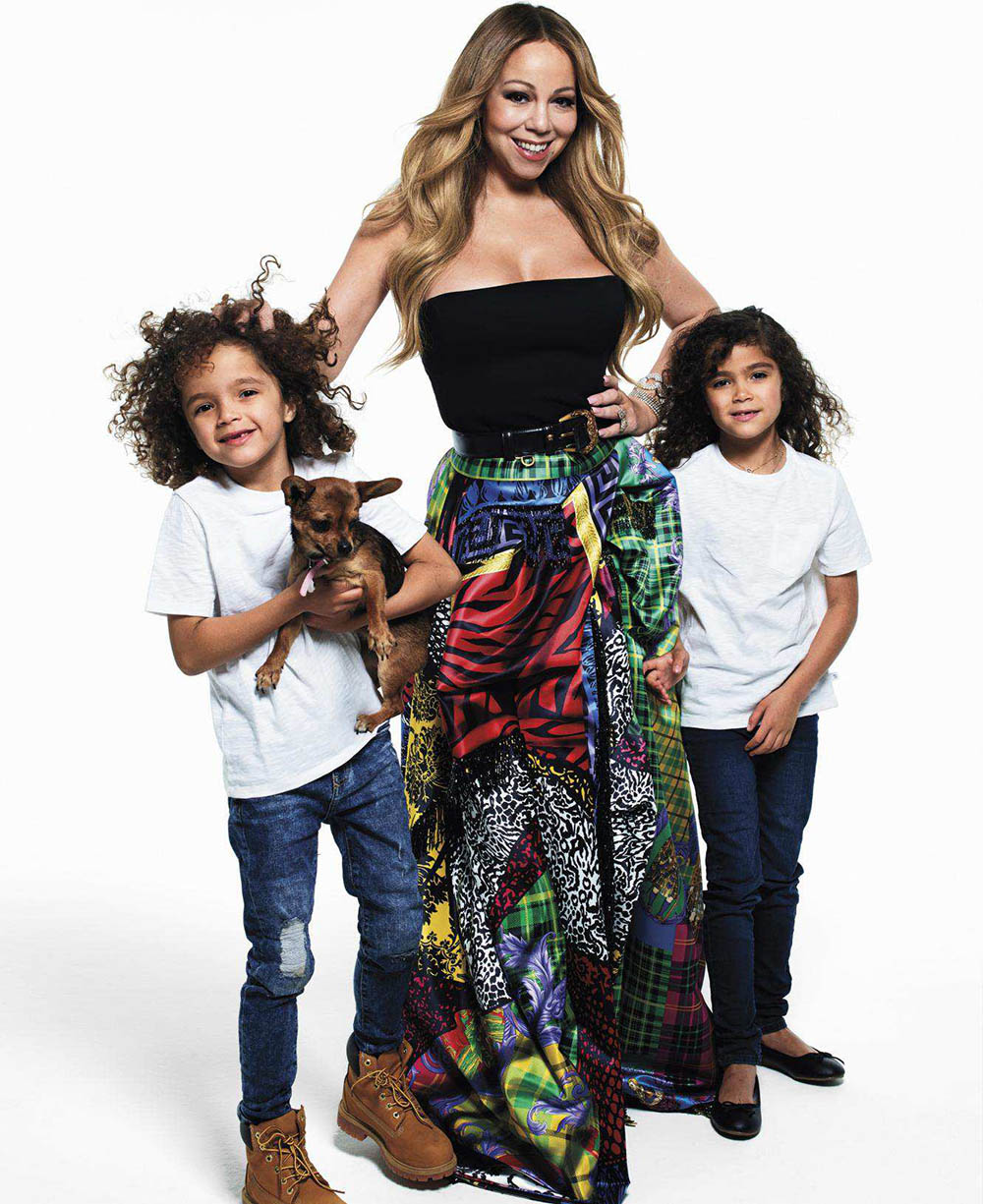 Music icons pose with their kids for Harper's Bazaar US September 2018 by Mario Sorrenti