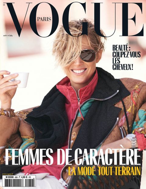 Iselin Steiro covers Vogue Paris August 2018 by David Sims