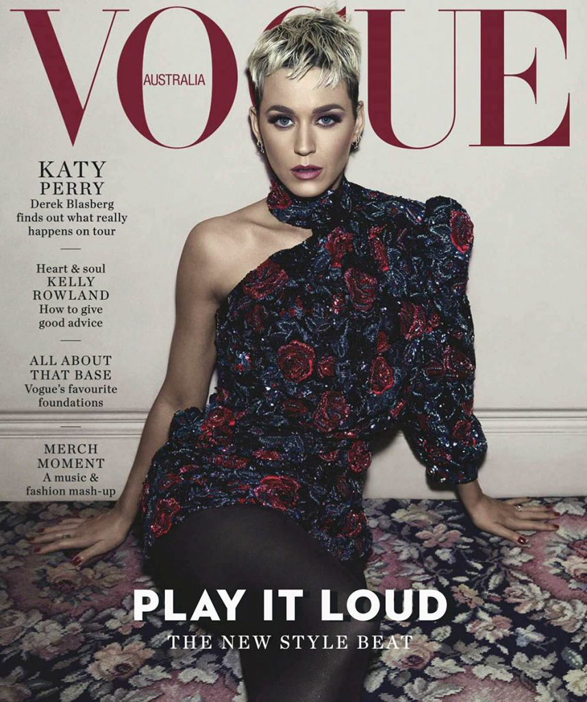 Katy Perry covers Vogue Australia August 2018 by Emma Summerton