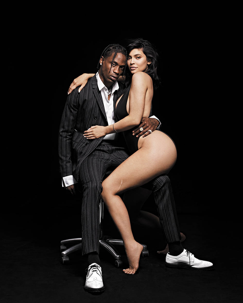 Kylie Jenner and Travis Scott cover GQ USA August 2018 by Paola Kudacki