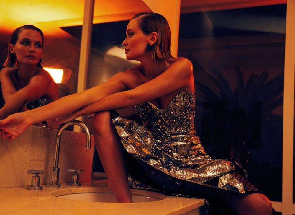 Lara Worthington covers Harper's Bazaar Australia August 2018 by Darren McDonald