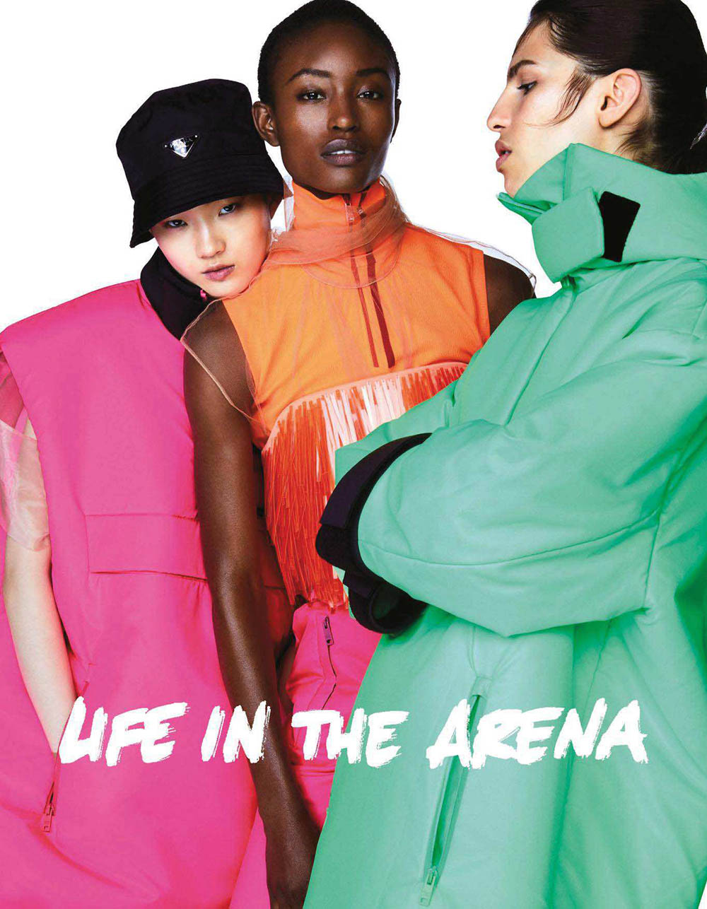 ''Life in the Arena'' by Walter Chin for Vogue Japan August 2018
