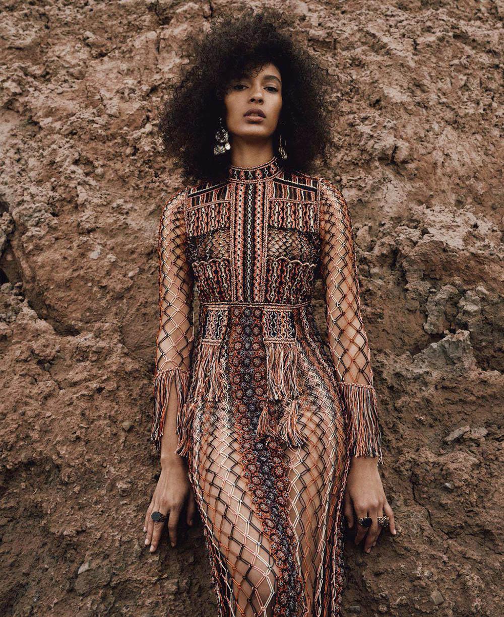 Luisana Gonzalez by Sebastian Kim for Elle US August 2018