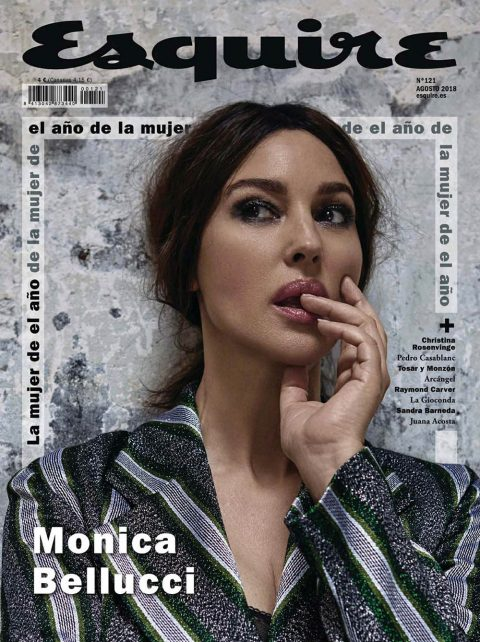Monica Bellucci covers Esquire Spain August 2018 by Ricardo Abrahao