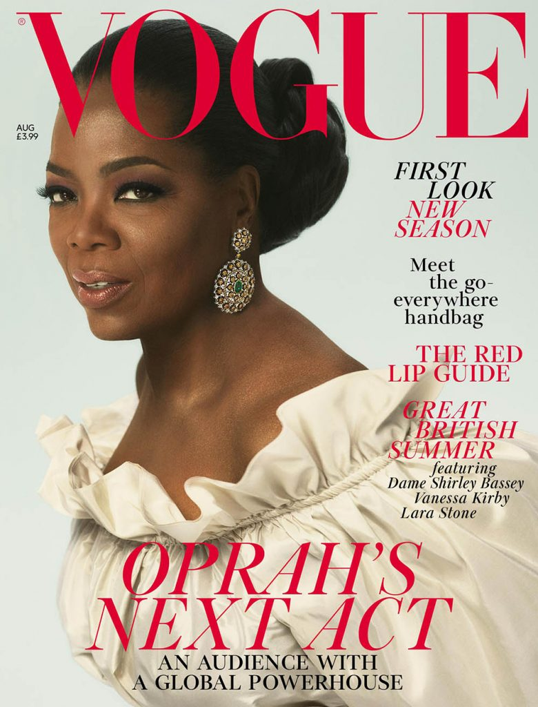 Oprah Winfrey covers British Vogue August 2018 by Mert & Marcus
