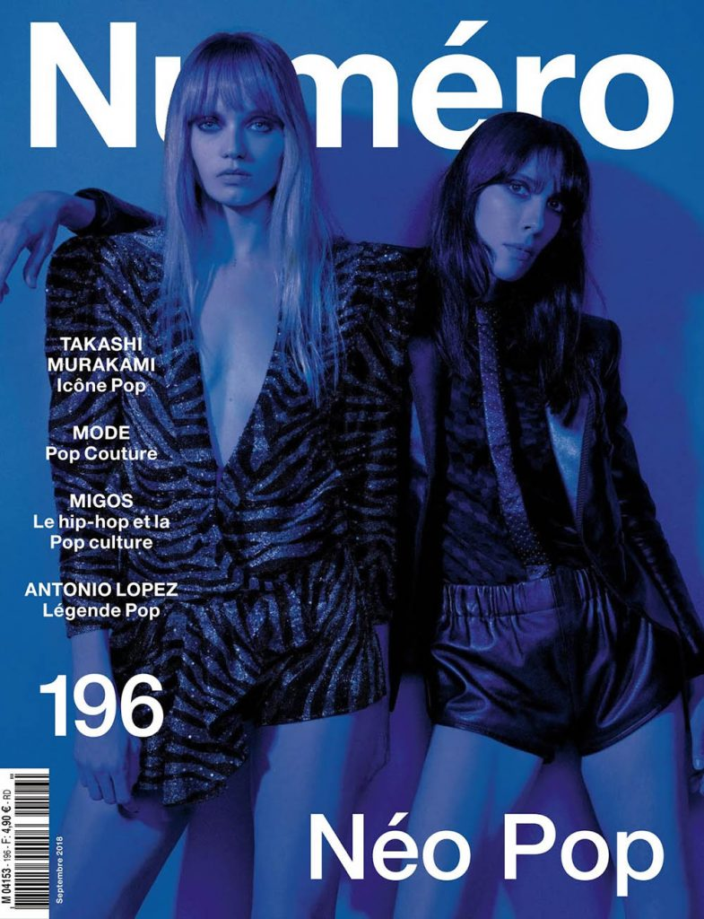 Abbey Lee Kershaw and Jamie Bochert cover Numéro September 2018 by Jean-Baptiste Mondino