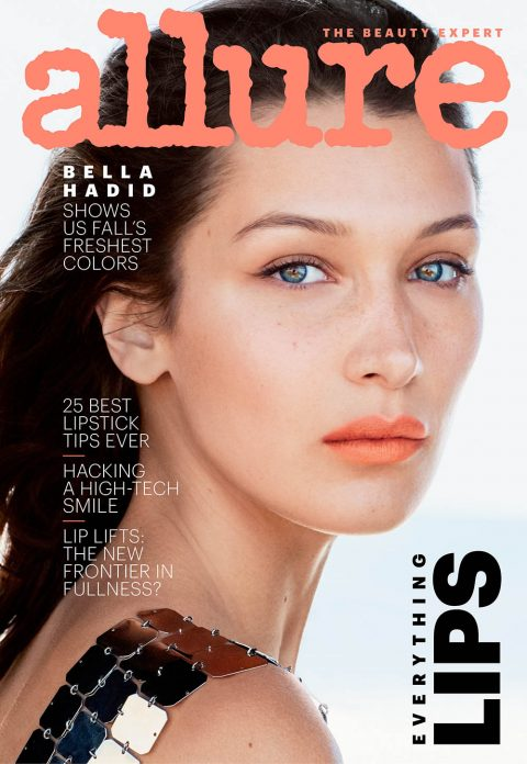 Bella Hadid covers Allure US September 2018 by Daniel Jackson