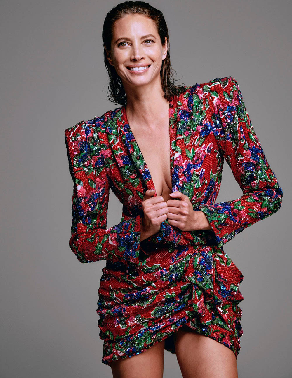 Christy Turlington by Chris Colls for InStyle US September 2018