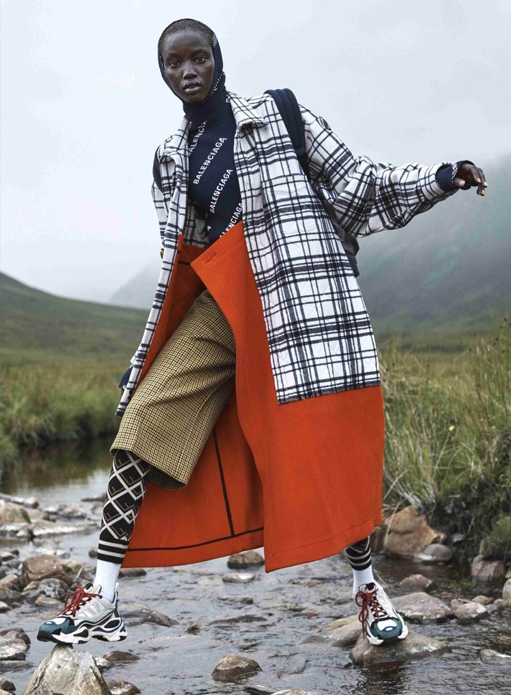 ''Clash of the Tartans'' by Josh Olins for Vogue US October 2018