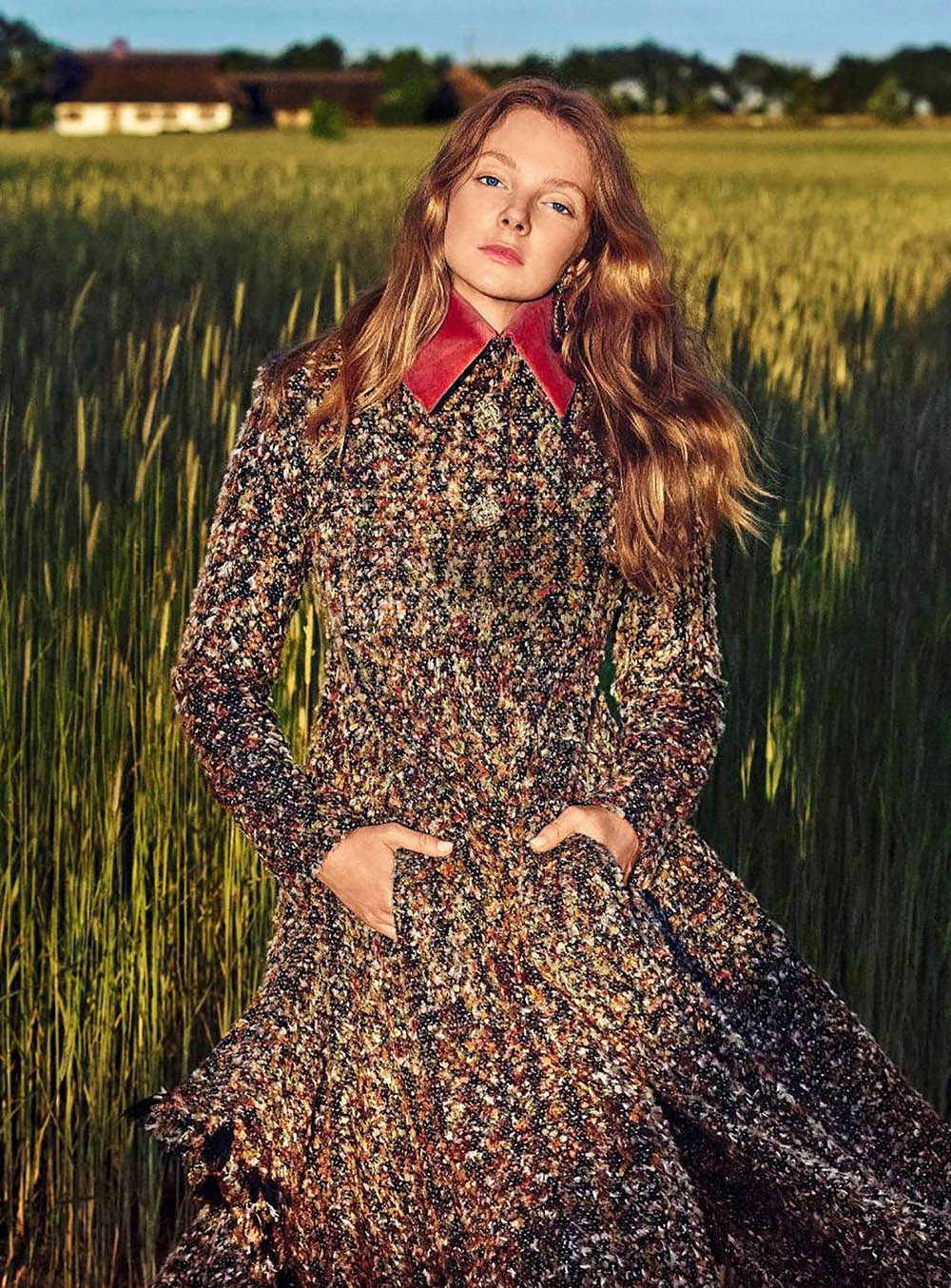 Eniko Mihalik by Marcin Tyszka for Harper's Bazaar Germany September 2018