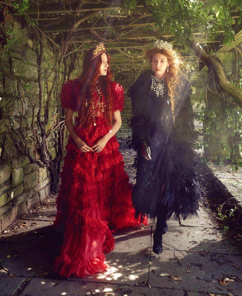 Julia Banas and Lea Julian by Mark Seliger for Harper's Bazaar US September 2018