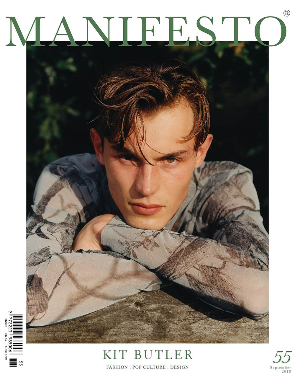 Kit Butler covers Manifesto Magazine September 2018 by Ben Parks