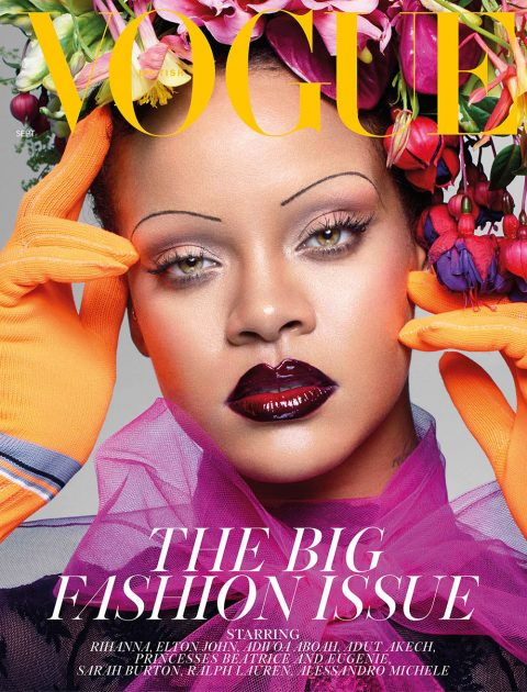 Rihanna covers British Vogue September 2018 by Nick Knight
