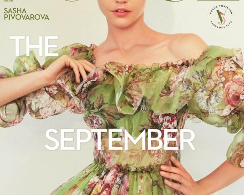 Sasha Pivovarova covers Vogue Thailand September 2018 by Natth Jaturapahu