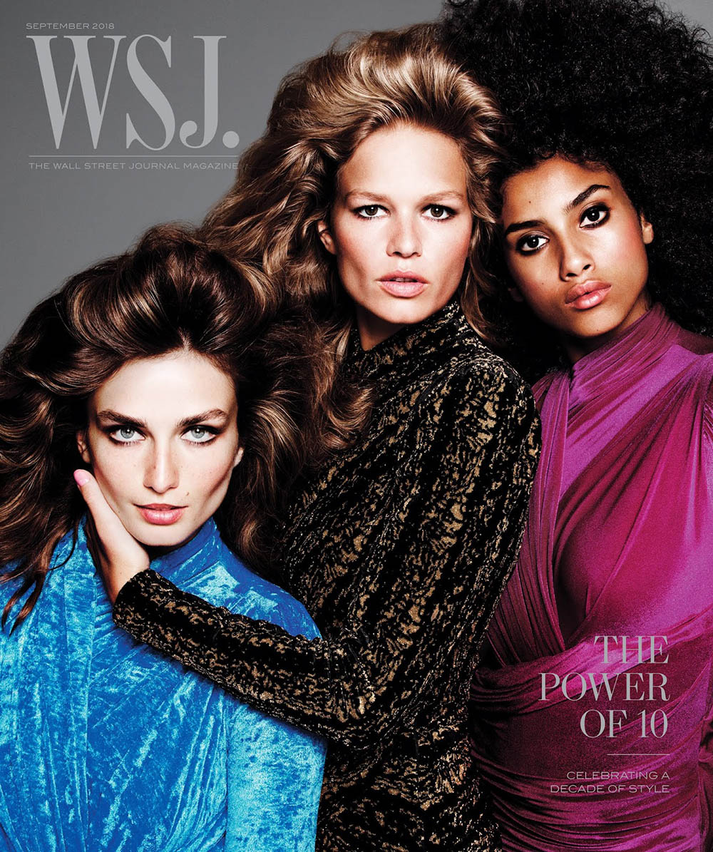 WSJ. Magazine September 2018 ''The Perfect 10'' cover by Inez and Vinoodh