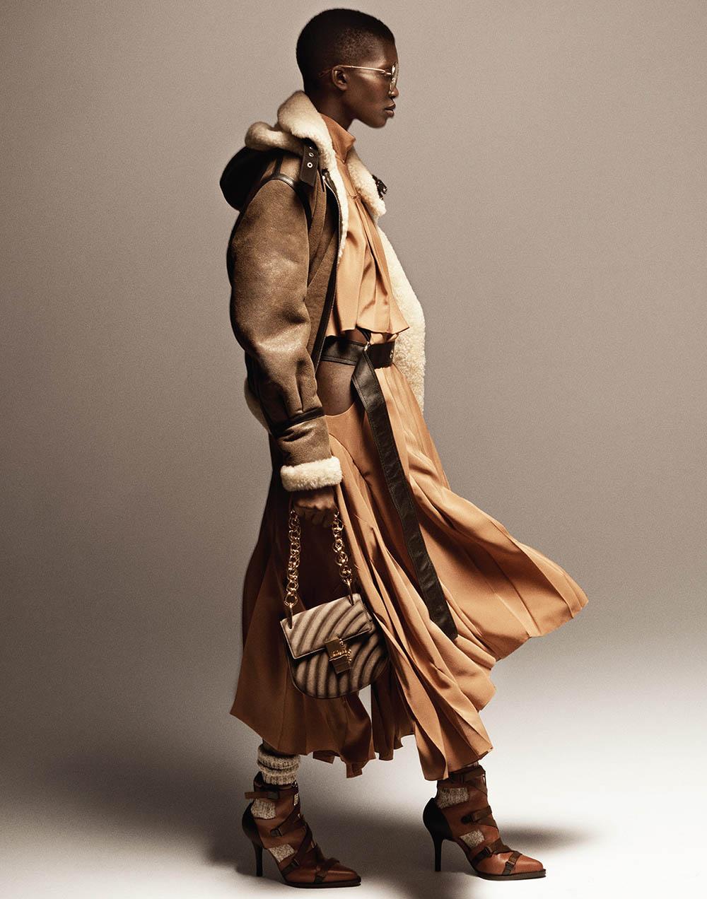 Achok Majak by Tom Schirmacher for Elle US October 2018