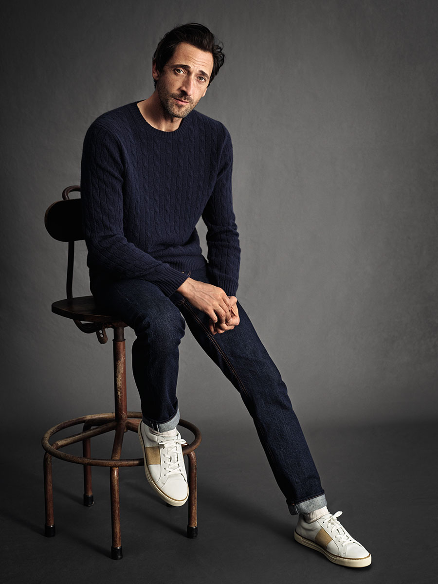 Adrien Brody for MANGO Man's 10th anniversary campaign