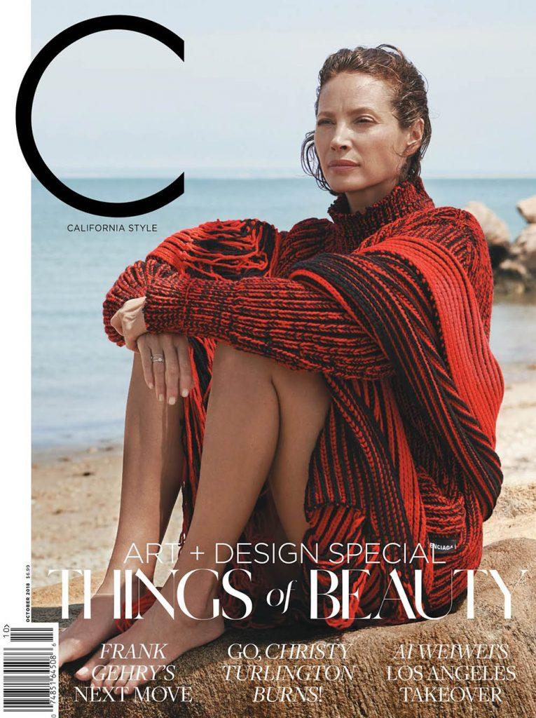 Christy Turlington covers C Magazine October 2018 by Pamela Hanson