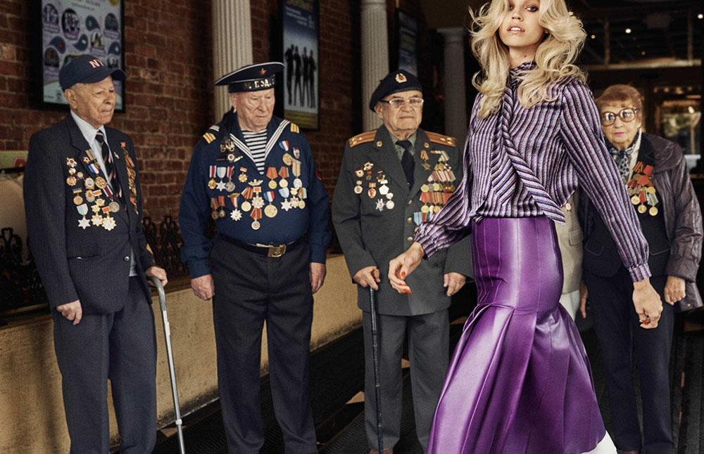 Devon Windsor by Dean Isidro for Elle Russia October 2018