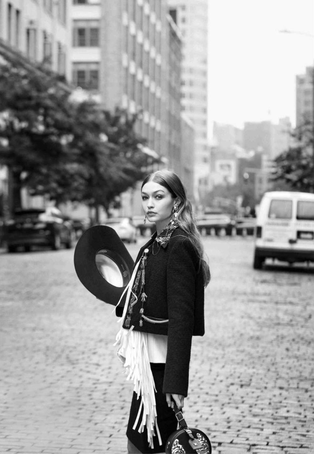 Gigi Hadid by Paul Wetherell for Vogue US October 2018