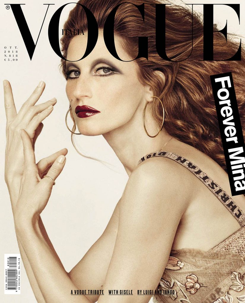 Gisele Bündchen covers Vogue Italia October 2018 by Luigi & Iango