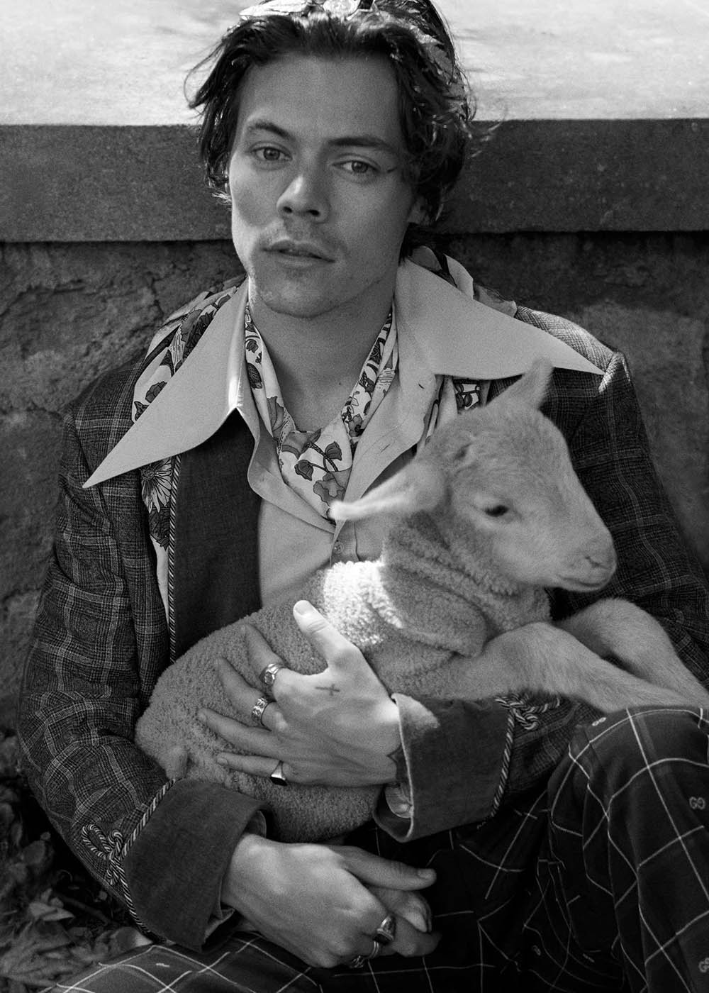 Gucci Cruise 2019 Men's Tailoring Campaign with Harry Styles