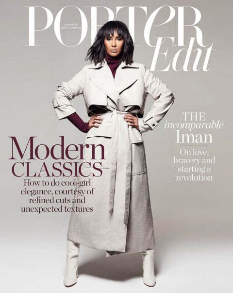 Iman covers Porter Edit October 26th, 2018 by Hanna Tveite
