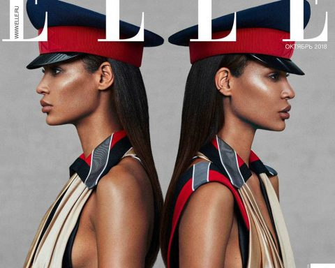 Joan Smalls covers Elle Russia October 2018 by Xavi Gordo