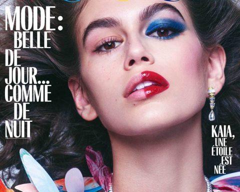 Kaia Gerber covers Vogue Paris October 2018 by Mikael Jansson