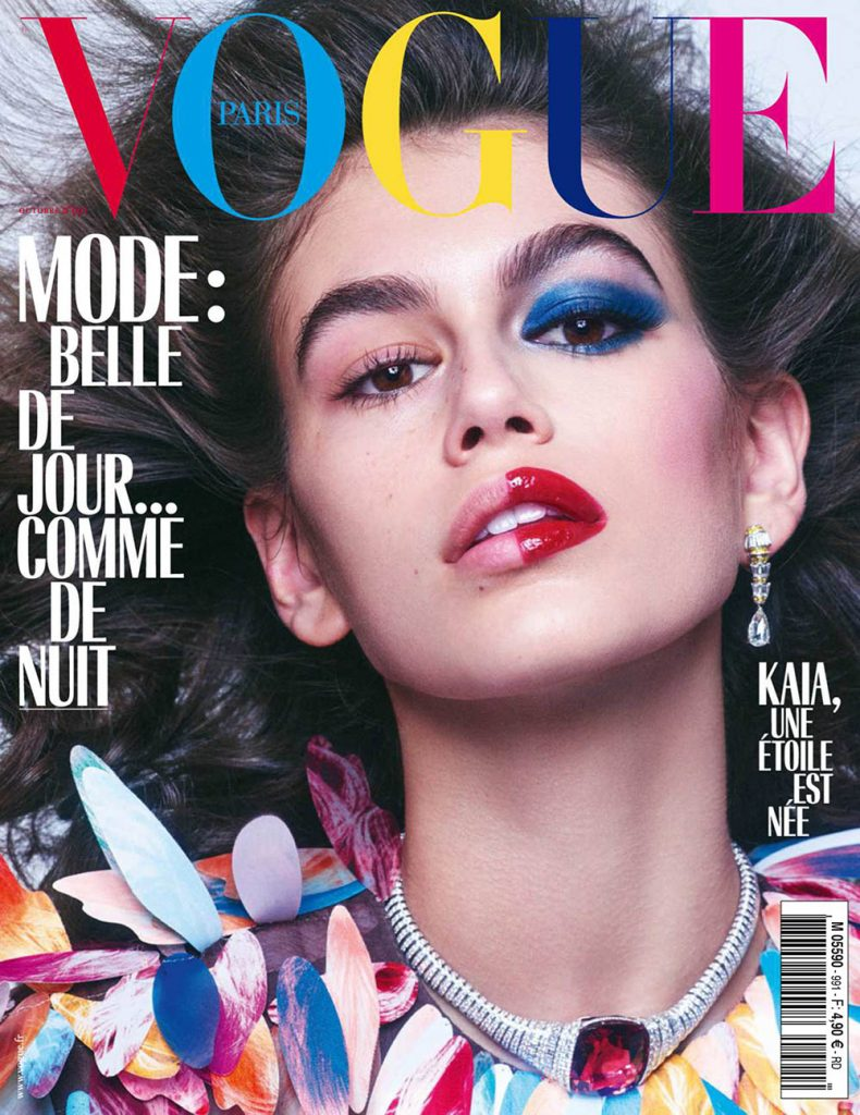 Kaia Gerber covers Vogue Paris October 2018 by Mikael Jansson