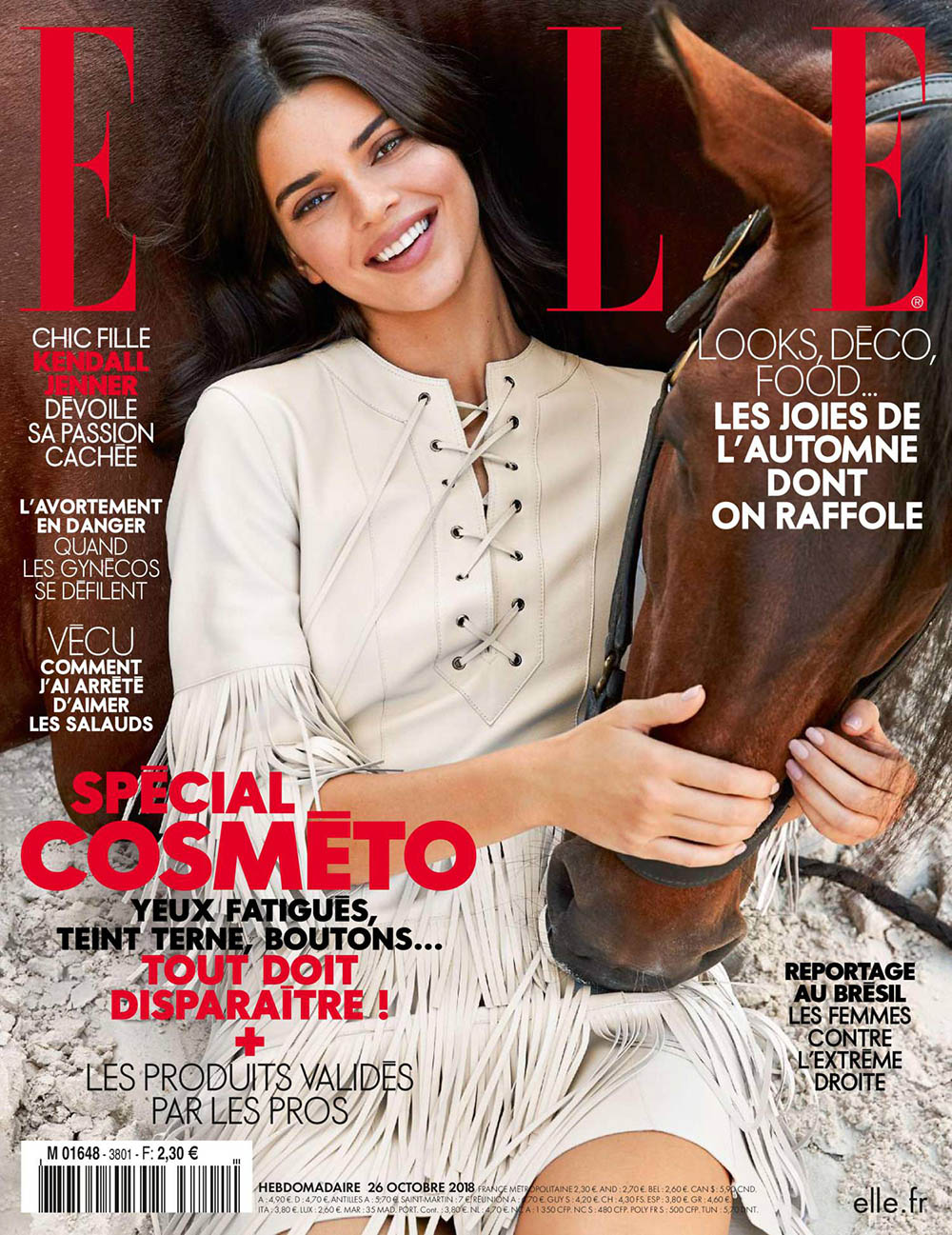 Kendall Jenner covers Elle France October 26th, 2018 by Fred Meylan
